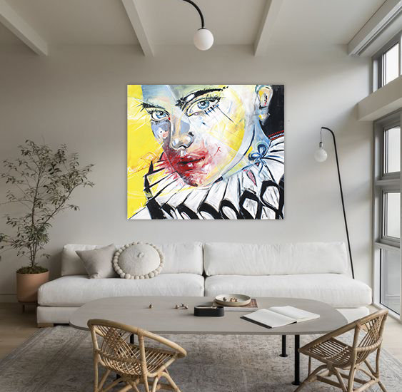 Emotions Have No Mask   Acryl auf Leinwand/Digitale Bearbeitung   140 x 120 cm