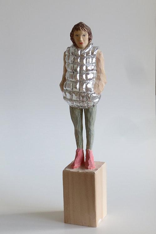 M06 |  Pinienholz, Buntstift | 23,7 cm x 4 cm x 4 cm