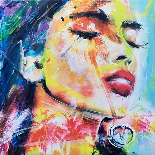 HIDEAWAY 3 | Mischtechnik auf Leinwand/Digitale Bearbeitung | 40 x 40 cm