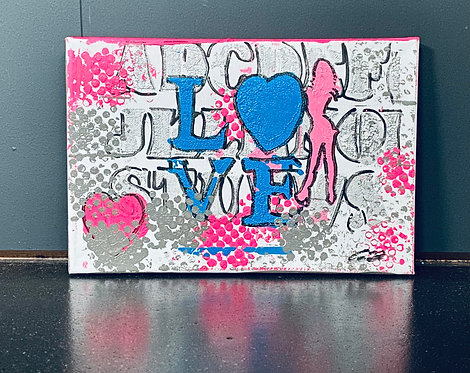 Stylish Love | Acrylic on canvas | 30 x 20 cm