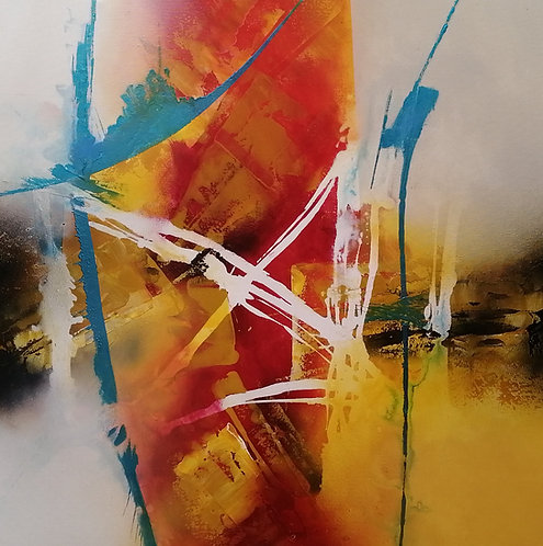 White tracks | Acryl, mixed media on canvas | 100 x 100 cm