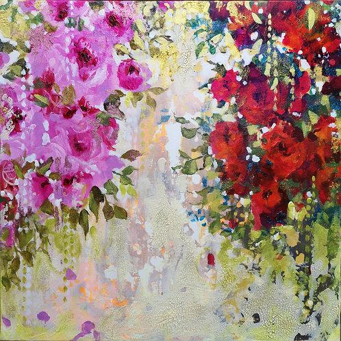 Tandem |  Acrylic Paint on Wooden Canvas | 80 cm x 80 cm