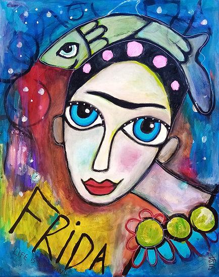 """Frida """"Life is changing""""   Mixed-Media auf Leinwand   80 x 100 cm"""