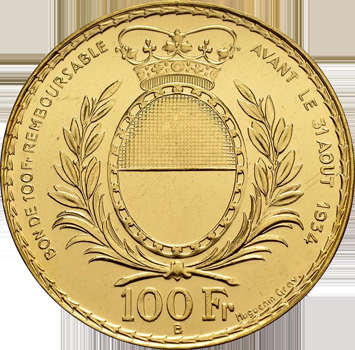 Shooting Thaler. Fribourg 100 Francs