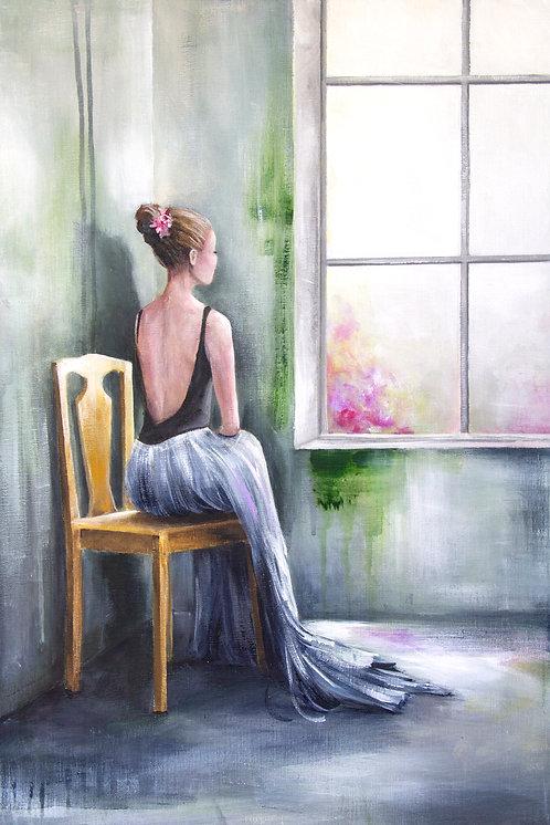 Waiting | Acrylic Painting | 70 x 50 cm