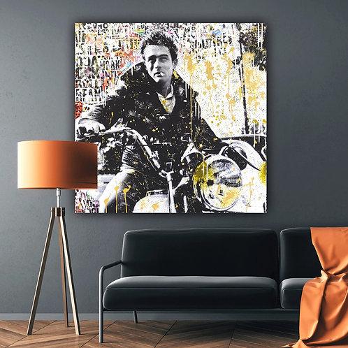 Mr. Cool | Pop-Art- / Collagen-Acryl-Technik auf Leinwand | 100 x 100 cm