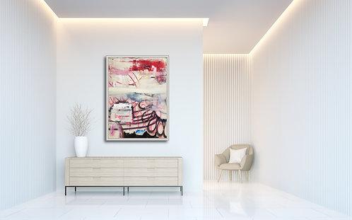 Begin again |  Acrylic, gouache and spraypaint on canvas | 140 x 100 cm