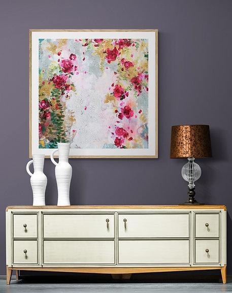 Twenty Roses |  Acrylic Paint on Wooden Canvas | 80 cm x 80 cm