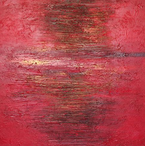 Glut | Mischtechnik auf Leinwand | 100 x 100 cm