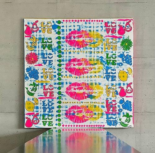 Lovegarden | Acrylic on canvas | 100 x 100 cm