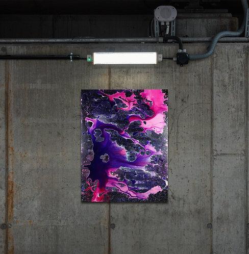 "Identifier | ""electronic music painting"" auf Leinwand | 60 x 80 cm"