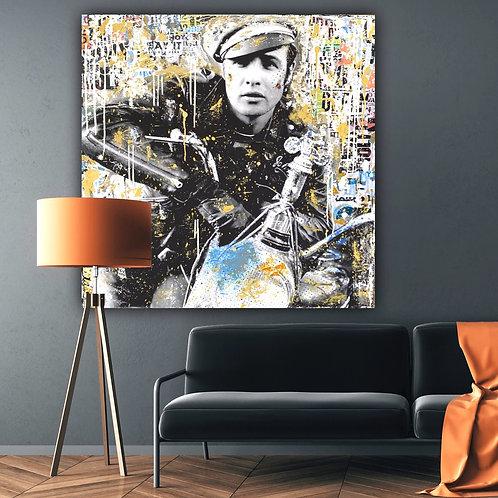 The Wild One | Pop-Art- / Collagen-Acryl-Technik auf Leinwand | 100 x 100 cm