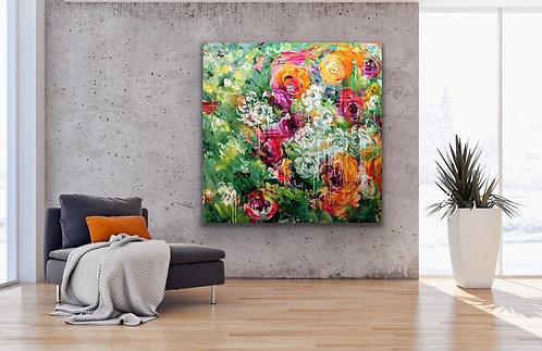 You're Worth It |  Acryl, Öl auf Leinwand | 150 x 150 cm