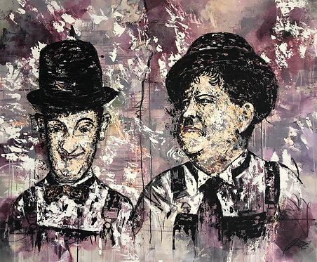 Stan & Ollie | Acryl, Öl auf Leinwand | 120 x 180 cm