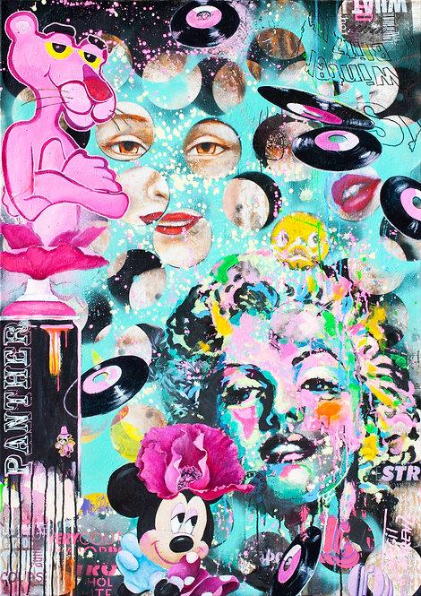 » PINK « | Öl, Pigmente, Mischtechnik auf Leinwand | 120 x 85 cm