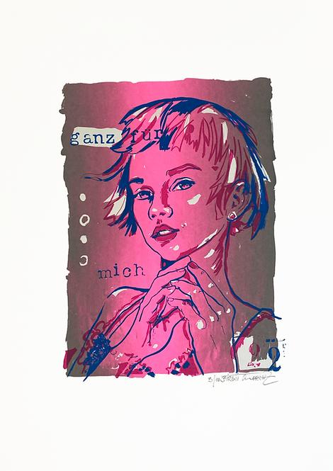 Ganz für mich III | Limitierter Siebdruck | 55 x 36 cm