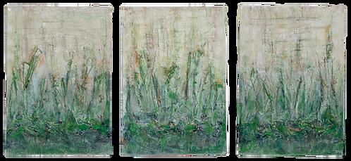 Madagascar | Mischtechnik auf Leinwand | 100 x 70 cm | 3-Teilig