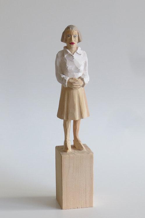 M05 |  Pinienholz, Acrylfarbe, Bleistift | 22,7 cm x 4 cm x 4 cm