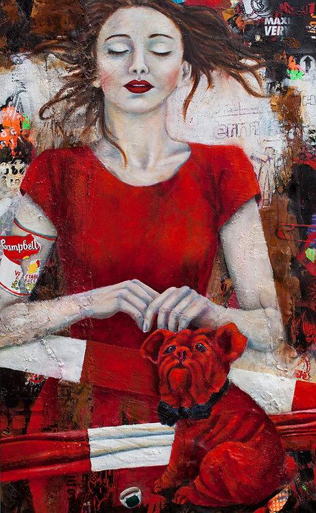 Auktion | Öl, Pigment, Mischtechnik auf Leinwand | 130 x 80 cm