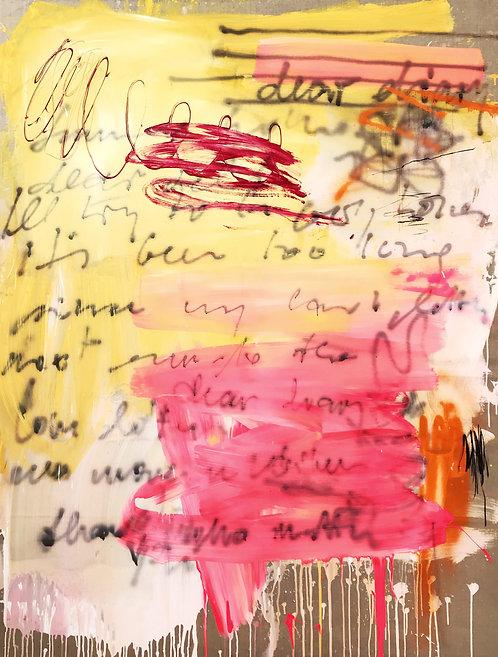 Dear Diary | Acryl, Öl, Tusche und Kohle auf Leinen | 200 x 150 cm