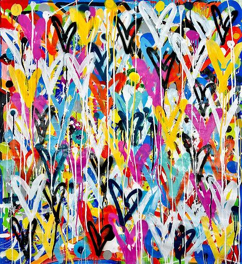 Amor Completo | Acrylic and spray paint on canvas | 105 x 100 cm