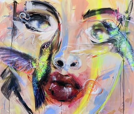 Welcome To Paradise I | Mischtechnik auf Leinwand | 100 x 115 cm