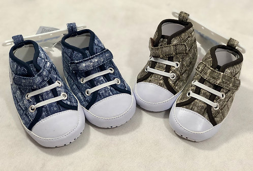 Demin Converse style lace up