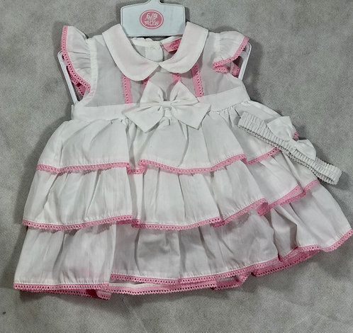 Cotton Dress, Bow and Pants