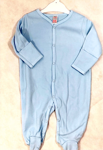 Blue Long Sleeve Sleep Suit