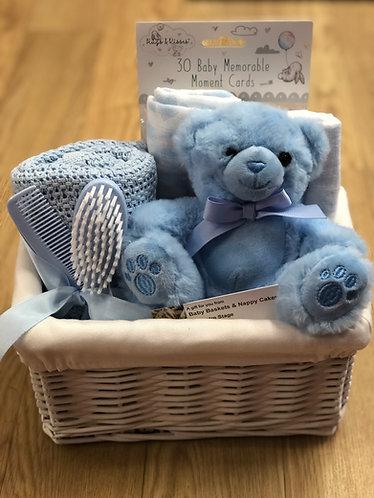 Blue Teddy basket