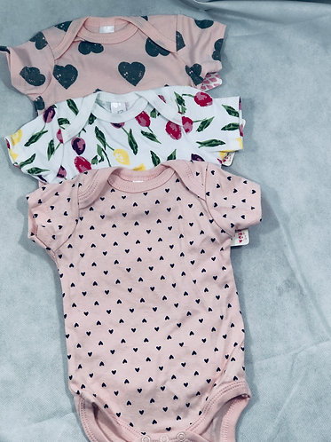 Bodysuit Hearts and Flowers
