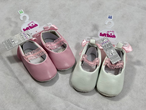 Soft shoe with Satin Bow on back