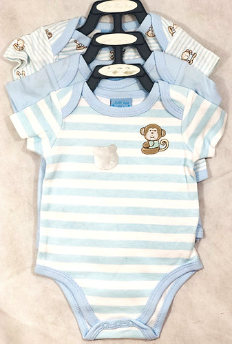 Blue Bodysuits - Set of 3