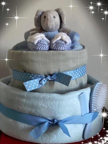 Blue/Grey elephant cake
