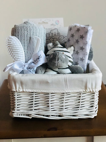 Grey / White Gift Basket