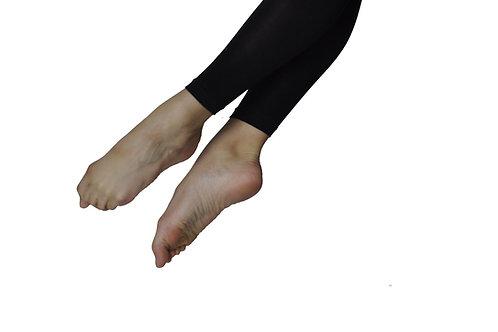 Black footless tights