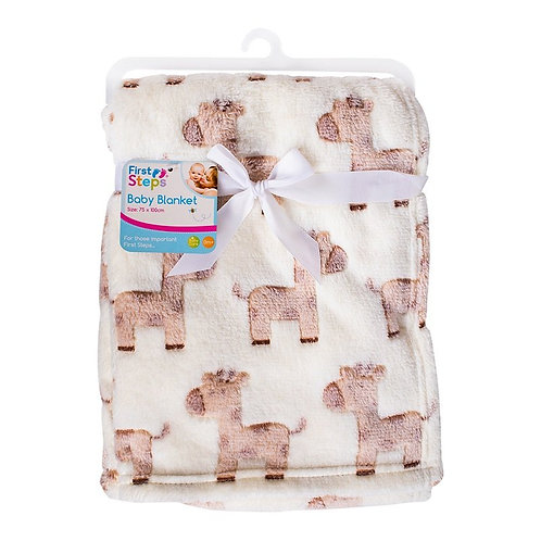 Giraffe Fleece Baby Blanket