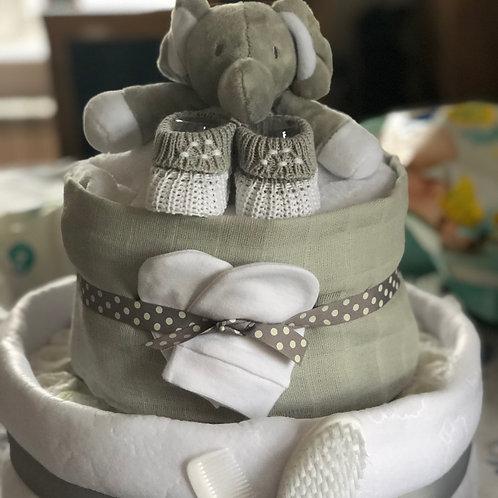 Grey & White Elephant cake