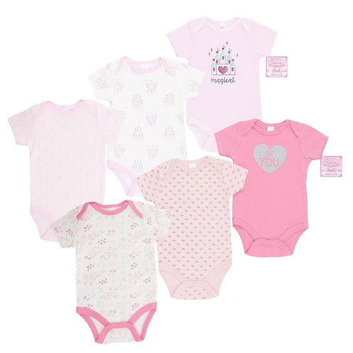 Girls Hearts / Castle bodysuits set 3
