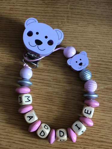 Purple/Pink Teddy chain