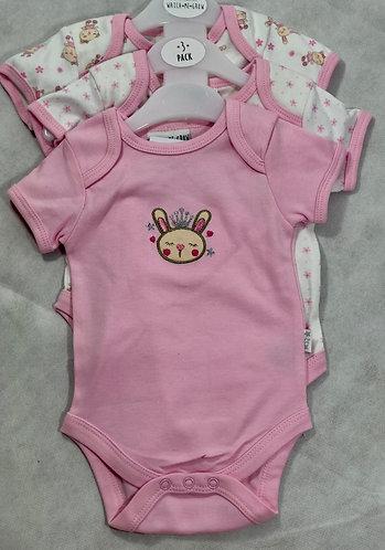 Set 3 Pink bunny bodysuit