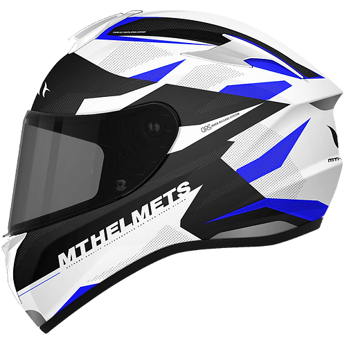 Мотошлем MT Helmets Targo Enjoy white blue