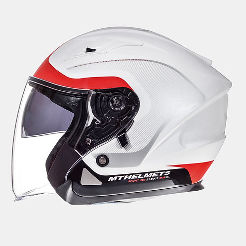 Мотошлем MT Helmets Avenue SV Crossroad Gloss White Red