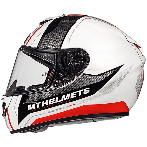 Мотошлем MT Helmets Rapide Duel white gray red
