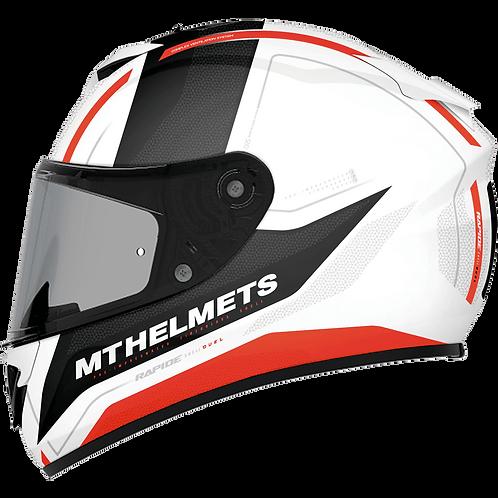 Мотошлем MT Helmets Rapide Duel white gray orange