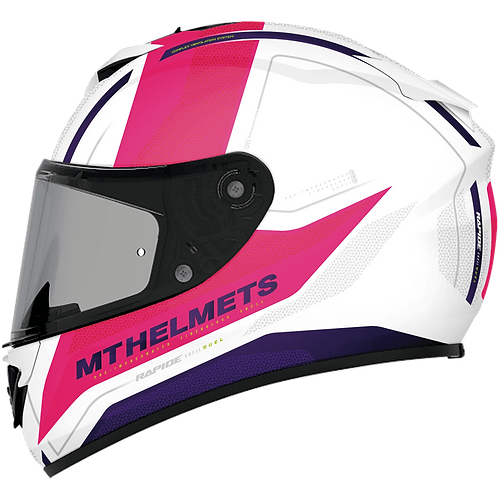 Мотошлем MT Helmets Rapide Duel white pink