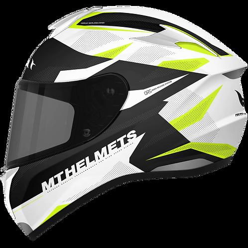 Мотошлем MT Helmets Targo Enjoy white yellow