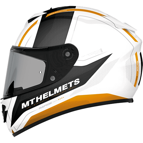 Мотошлем MT Helmets Rapide Duel white gray gold