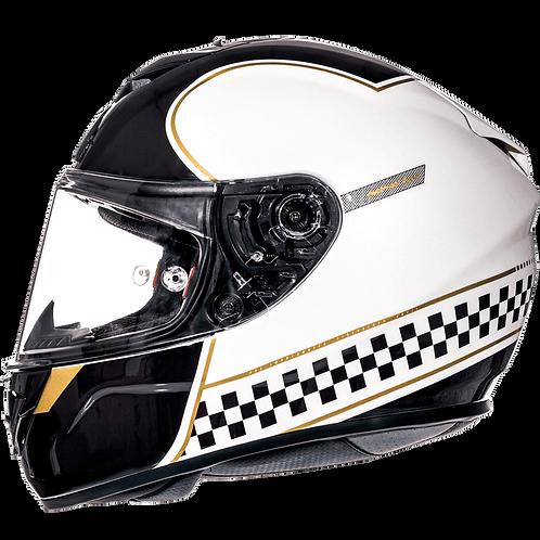 Мотошлем MT Helmets Rapide Revival Gloss white black