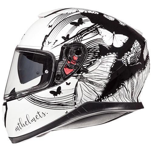 Мотошлем MT Helmets Thunder 3 SV Vlinder White